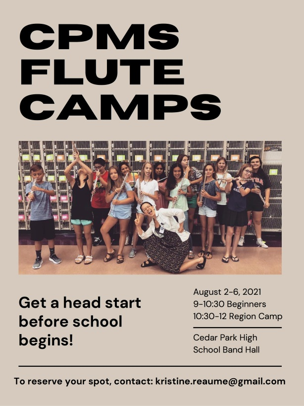 Flute Camps @ CPMS email